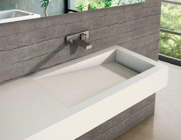Encimera a medida con lavabo corian integrado canada ba os de autor - Precio del corian ...