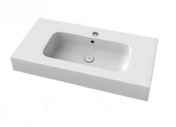 encimera resina mineral solid lavabo centrado