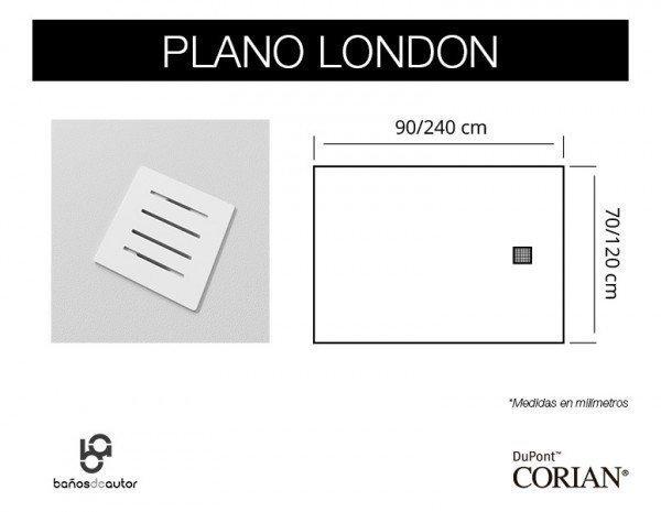 Planta medidas London