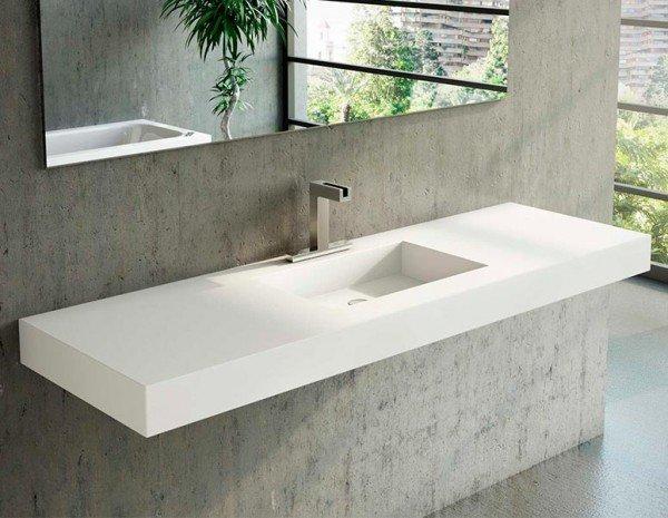 free lavabo de corian square centrado with encimeras de lavabo with corian baos