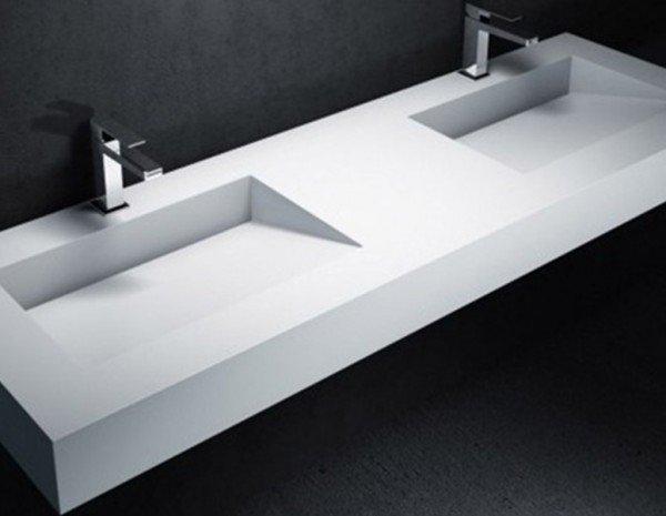 Encimera doble lavabo corian tenesse ba os de autor - Encimeras corian precios ...