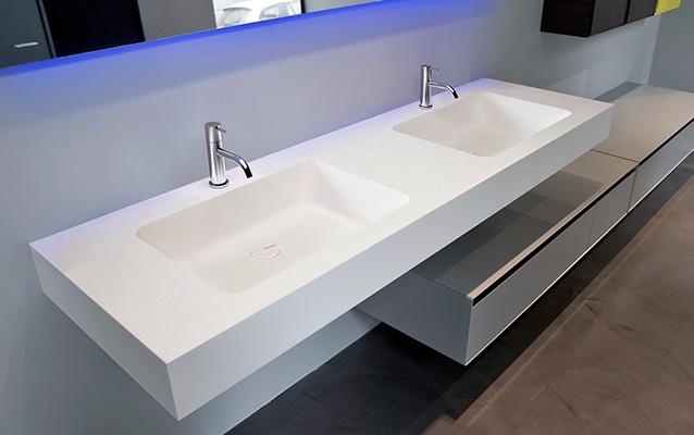 Encimeras corian lavabos a medida platos de ducha for Medidas lavabo
