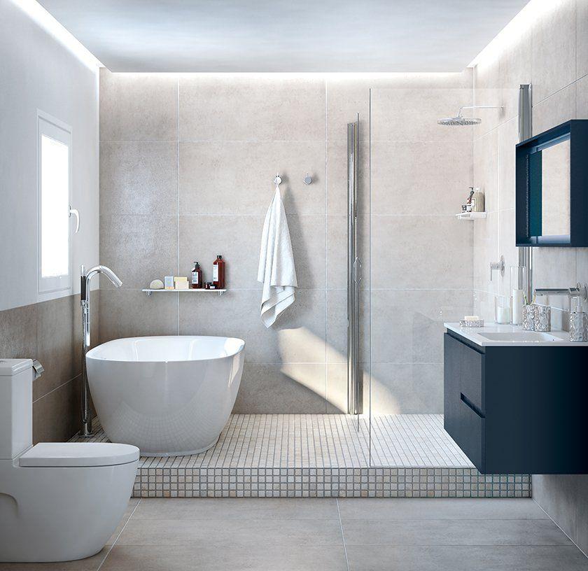 Bañera integrada en ducha