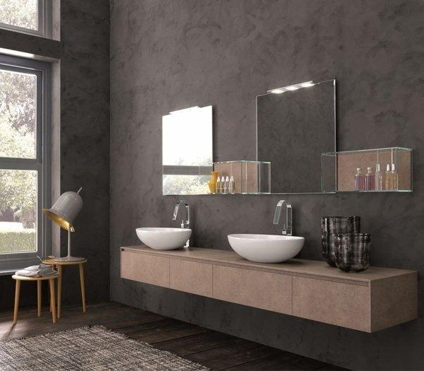 Mueble de MDF a Medida con 3 cajones Consecutivos + 2 Lavabos de diseño Corian® 563