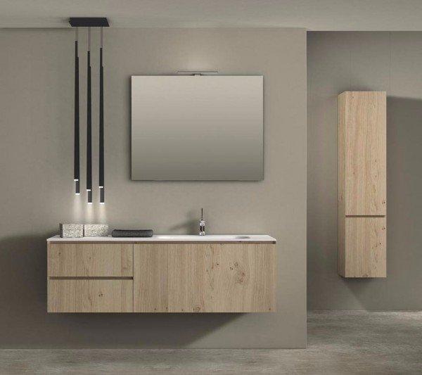 Mueble de ROBLE a Medida con 3 Cajones + 1 Lavabo de diseño Corian® 723
