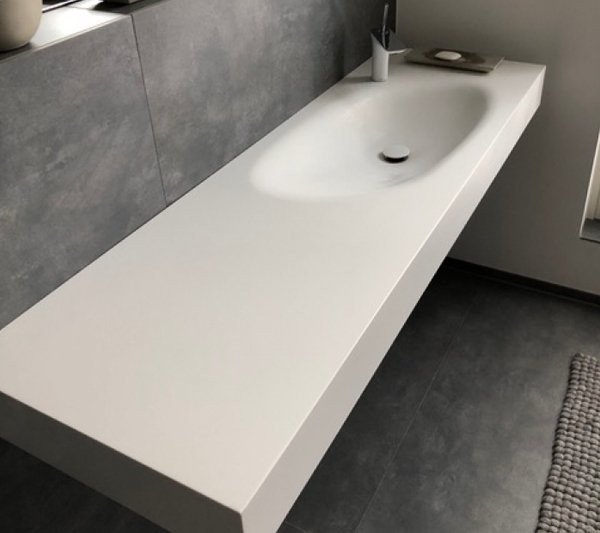 Lavabo de diseño Corian® a Medida 1 Seno SPRINGFIELD