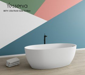 Bañera Exenta BETH Solid Surface 150cm x 70cm