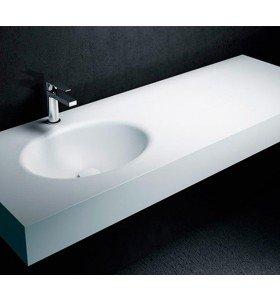 Lavabos de diseño a Medida en Corian® 1 Seno OVAL