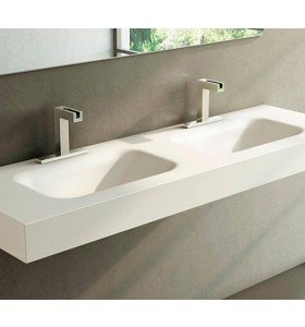 DOBLE LAVABO DE CORIAN® NEVADA