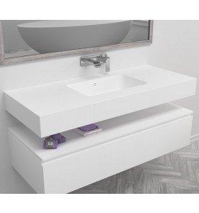 Lavabo de diseño Corian® a Medida 1 Seno SERENITY