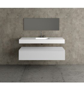 Lavabo Solid Surface KRION + Módulo MDF 1 Cajón | 491