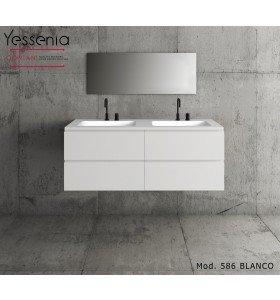 Mueble de MDF a Medida con 4 Cajones + 2 Lavabos de diseño Corian® M586