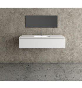 Mueble MDF de 1 Cajón + 1 Lavabo Resina Centrado 4001