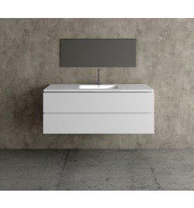 Mueble MDF de 2 Cajones + 1 Lavabo Resina Centrado 4002
