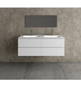 Mueble MDF 4 Cajones + 2 Lavabos de Resina  4005