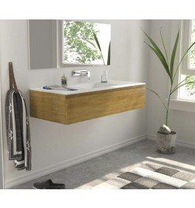 Mueble Roble Macizo con lavabo Corian Detalle