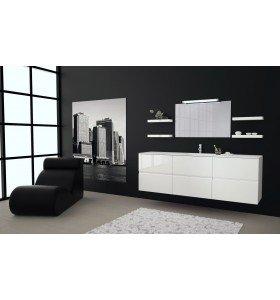Mueble de MDF a medida con 6 cajones  + 1 Lavabo de diseño Corian® | 561