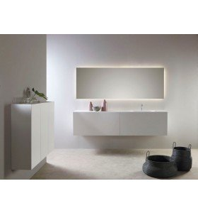 Mueble MDF a medida  con 2 Cajones  + 1 Lavabo de diseño Corian® 507