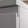Mueble MDF de 1 Cajón + Encimera con 1 Lavabo Resina Desplazado Detalle