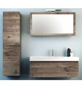 Mueble de Roble Macizo a medida con 1 Cajón + 1 Lavabo de Corian® 543
