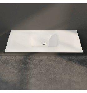 Lavabo Solid Surface KRION + Mueble Baño MDF 2 Cajones | 4020