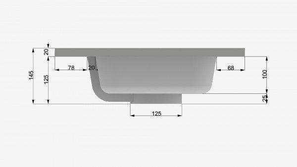 Mueble MDF de 2 Cajones + 1 Lavabo Resina Centrado 4002 Seno