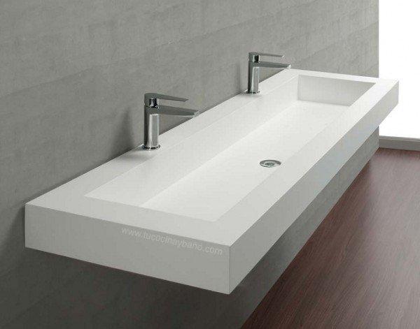 Encimera Corian con lavabo integrado | Indiana | Baños de autor