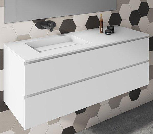 Mueble De Baño A Medida Con Lavabo Corian 502 Baños De Autor