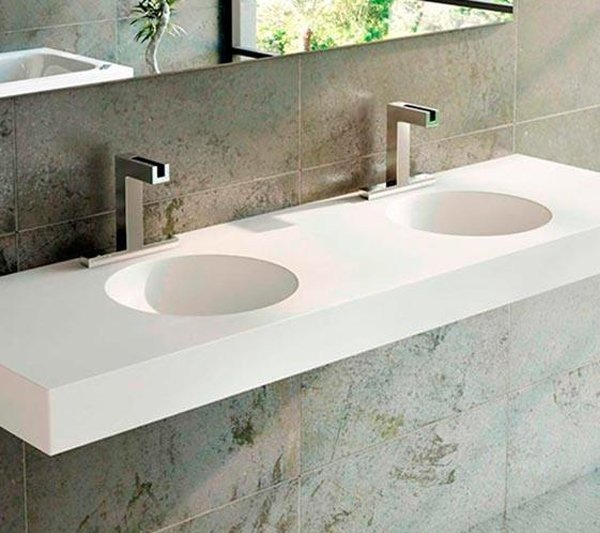 DOBLE LAVABO DE CORIAN® RED