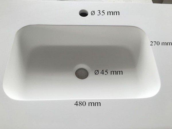 Mueble MDF de 2 Cajones + 2 Lavabos Resina 4004  Seno