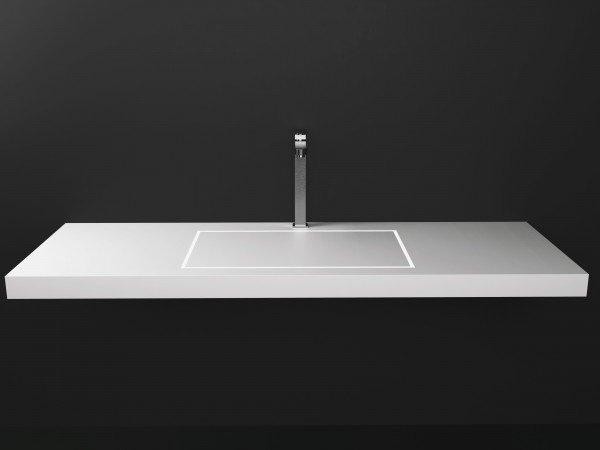 Lavabo de diseño Krion a Medida 1 Seno Loa Flat Square 40/60/80 Principal