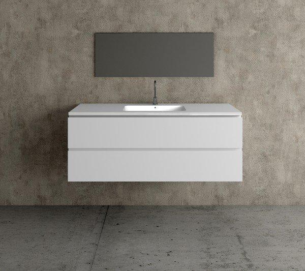 Mueble MDF de 2 Cajones + 1 Lavabo Resina Centrado 4002 Principal