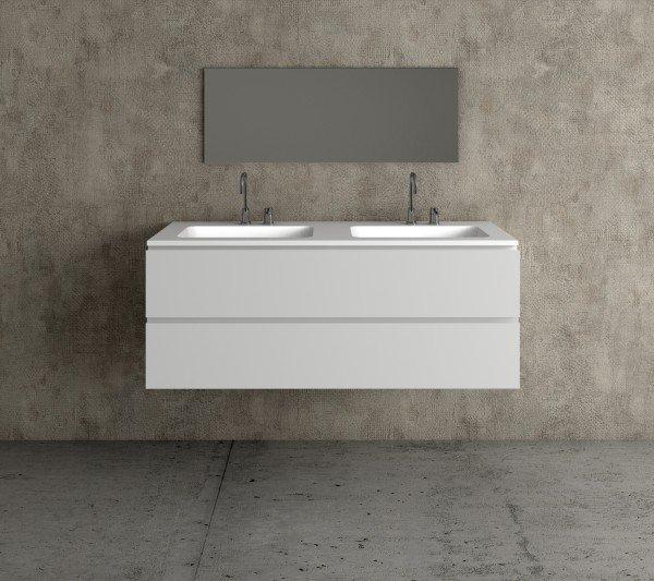 Mueble baño a medida con lavabos de diseño Corian 504 | Baños de autor