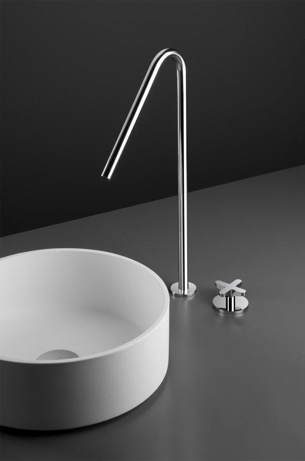 Monomando lavabo acero inox 990 altura 40 48 cm for Lavabo de acero inoxidable