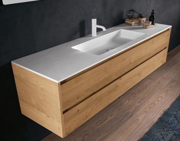 Mueble Roble Macizo con lavabo Corian Principal