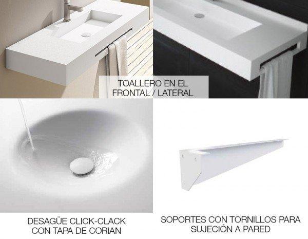 LAVABO DE CORIAN® TORONTO Opciones