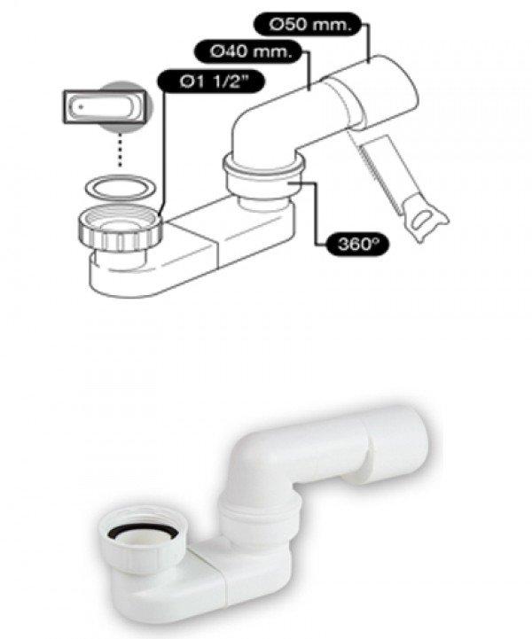 Bañera moderna A5 Válvula
