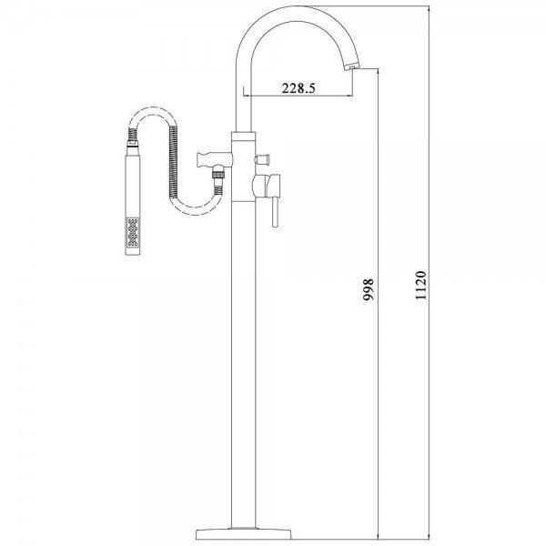 Bañera 1710 Acrílica 150/170x80cm Exentas Modernas