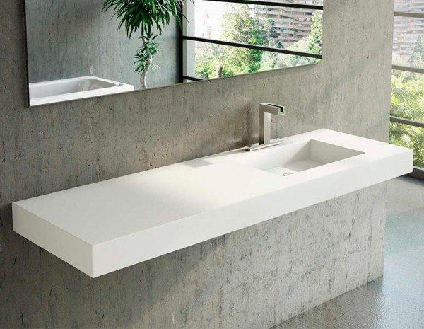 Lavabo a medida en corian square ba os de autor - Precio de lavabos ...