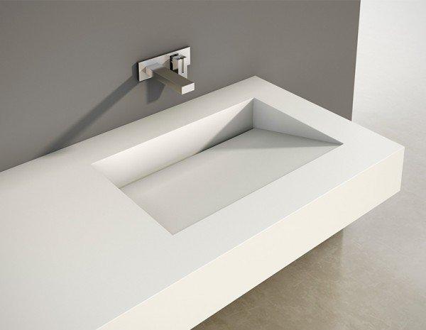 Encimera Corian con lavabo integrado | Tenesse | Baños de autor