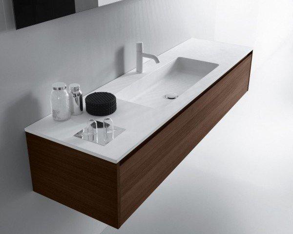 Mueble Roble Macizo con lavabo Corian